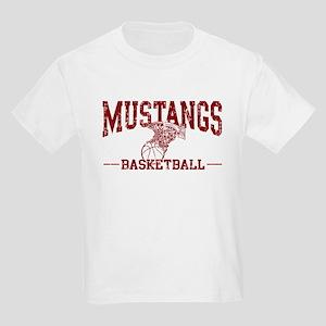 Mustangs Basketball Kids Light T-Shirt
