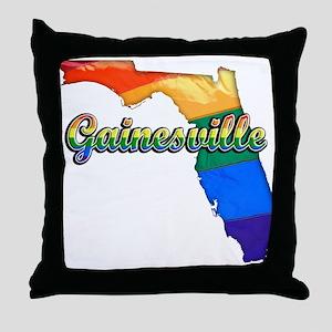 Gainesville, Florida, Gay Pride, Throw Pillow