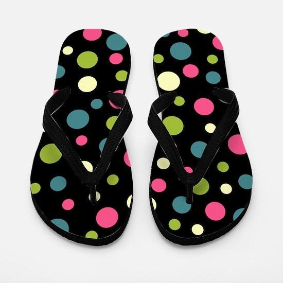 Polka Dotz Flip Flops