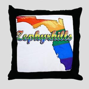 Zephyrhills, Florida, Gay Pride, Throw Pillow
