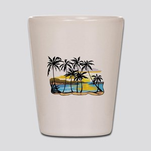 Beautiful Beach Shot Glass