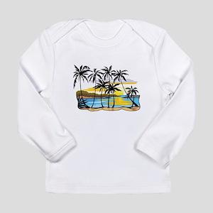 Beautiful Beach Long Sleeve Infant T-Shirt