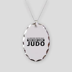 Judo design Necklace Oval Charm