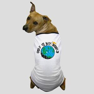 My World Is Golf Dog T-Shirt