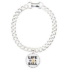 Life Is A Ball Basketball Charm Bracelet, One Char