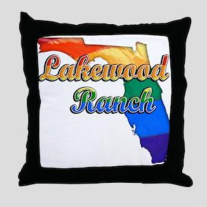 Lakewood Ranch, Florida, Gay Pride, Throw Pillow