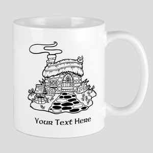 Cottage with Text Mug