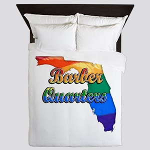 Barber Quarters, Florida, Gay Pride, Queen Duvet