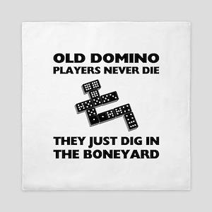 Domino Players Never Die Queen Duvet