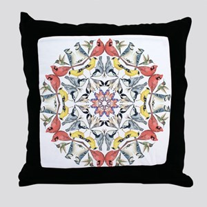 Birds Birds Birds Throw Pillow