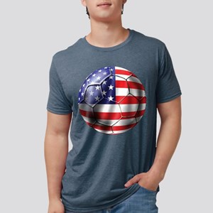 USA Soccer Ball Mens Tri-blend T-Shirt