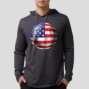 USA Soccer Ball Mens Hooded Shirt