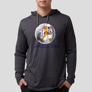 USA Girls Team Mens Hooded Shirt