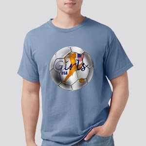 USA Girls Soccer Mens Comfort Colors Shirt