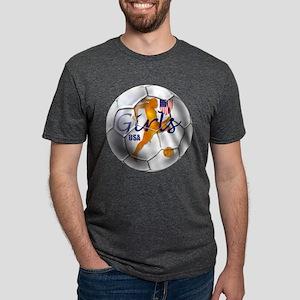 USA Girls Soccer Mens Tri-blend T-Shirt