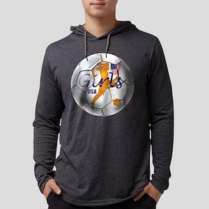 USA Girls Soccer Mens Hooded Shirt