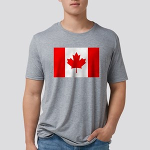 Flag of Canada Mens Tri-blend T-Shirt