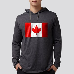 Flag of Canada Mens Hooded Shirt