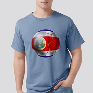 Costa Rica Soccer Ball Mens Comfort Colors Shirt