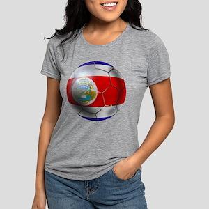 Costa Rica Soccer Ball Womens Tri-blend T-Shirt
