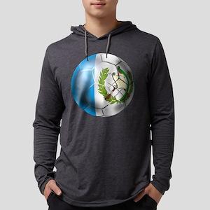 Guatemala Soccer Ball Mens Hooded Shirt