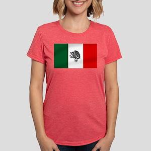 Mexican Soccer Flag Womens Tri-blend T-Shirt