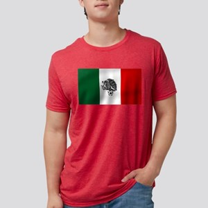 Mexican Soccer Flag Mens Tri-blend T-Shirt