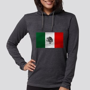 Mexican Soccer Flag Womens Hooded Shirt
