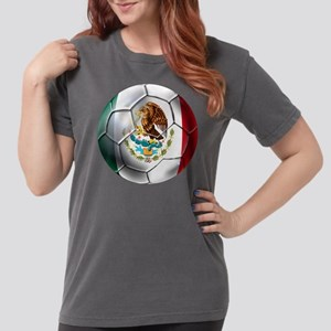 Mexican Soccer Ball Womens Comfort Colors Shirt