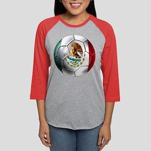 Mexican Soccer Ball Womens Baseball Tee