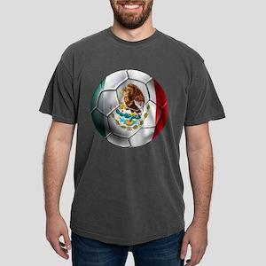 Mexican Soccer Ball Mens Comfort Colors Shirt