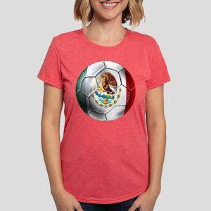 Mexican Soccer Ball Womens Tri-blend T-Shirt