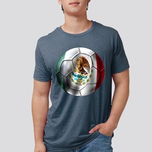 Mexican Soccer Ball Mens Tri-blend T-Shirt