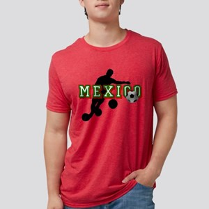 Mexican Soccer Player Mens Tri-blend T-Shirt