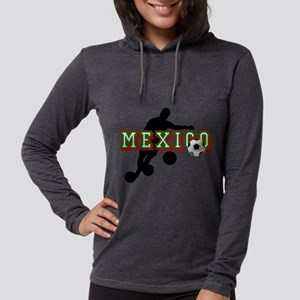 Mexican Soccer Player Womens Hooded Shirt