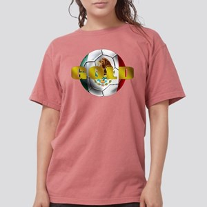 Mexico Soccer Gold Womens Comfort Colors Shirt