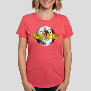 Mexico Soccer Gold Womens Tri-blend T-Shirt