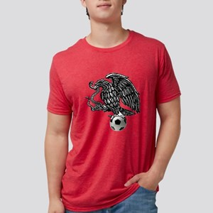Mexican Football Eagle Mens Tri-blend T-Shirt