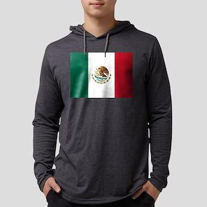 Mexican Flag Mens Hooded Shirt