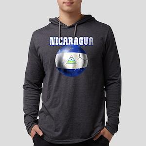 Nicaragua Football Mens Hooded Shirt