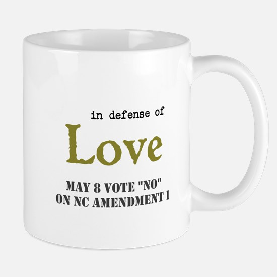 Vote No in Defense of Love Mug 2