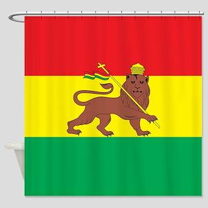 Ethiopia Flag 1897 Shower Curtain
