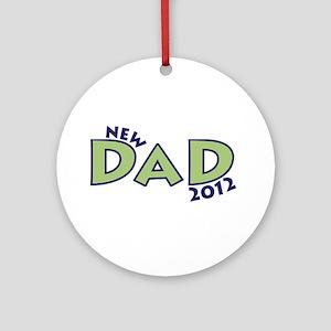 New Dad 2012 Ornament (Round)