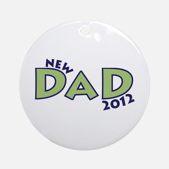New Dad 2012 Ornament (Round)
