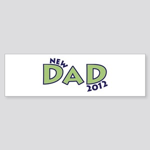 New Dad 2012 Sticker (Bumper)