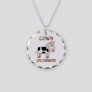 Awesome Cows Necklace Circle Charm