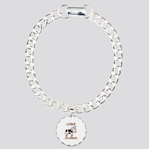 Awesome Cows Charm Bracelet, One Charm
