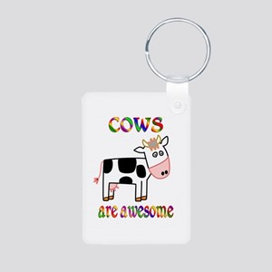 Awesome Cows Aluminum Photo Keychain