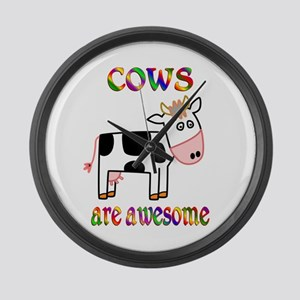 Awesome Cows Large Wall Clock