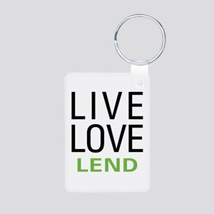 Live Love Lend Aluminum Photo Keychain